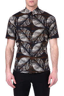 D SQUARED Floral-print short-sleeved shirt