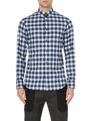 D SQUARED Checked flannel shirt