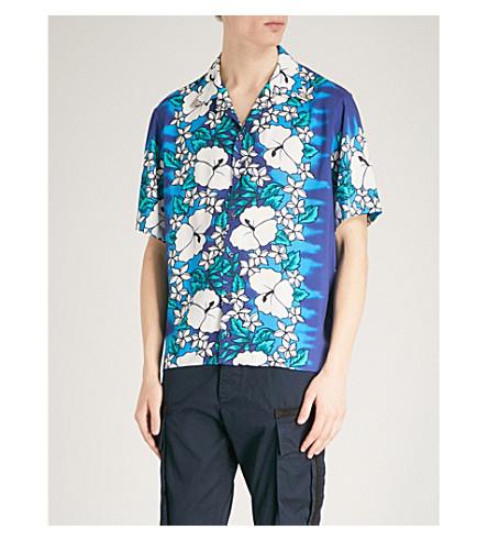 DSQUARED2 Hawaiian-print woven shirt (Ibisco+blue+white