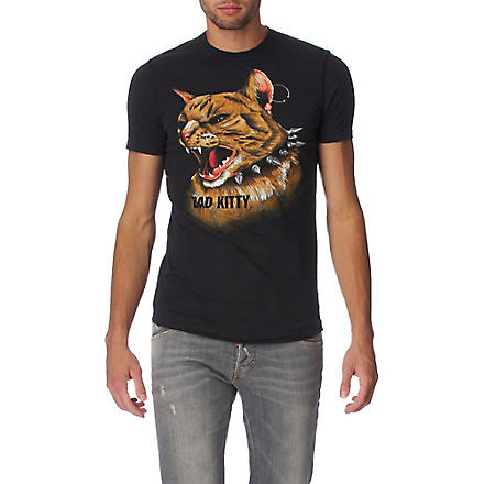 D SQUARED Bad Kitty t-shirt (Black