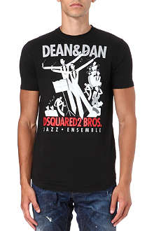 D SQUARED Jazz Ensemble print t-shirt