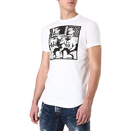 D SQUARED Twin photo T-shirt (White