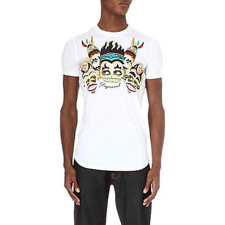 D SQUARED Tribal printed t-shirt (White