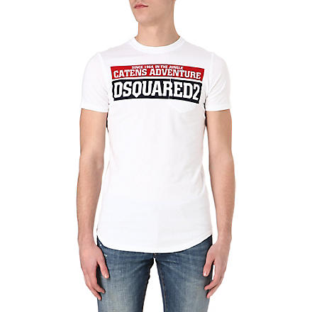 D SQUARED Catens Adventure pocket T-shirt (White