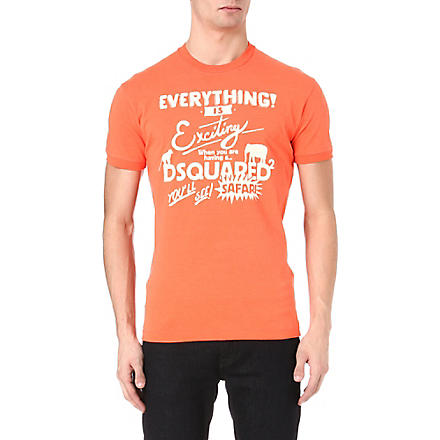 D SQUARED Everything is exciting t-shirt (Orange
