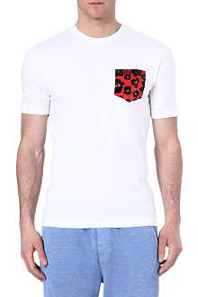 D SQUARED Leopard pocket t-shirt