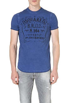 D SQUARED Vintage Fade print t-shirt