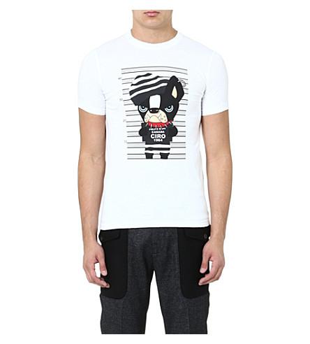 D SQUARED Dog Mugshot t-shirt (White