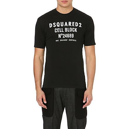 D SQUARED Cell Block cotton t-shirt (Black