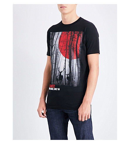 DSQUARED2 Into The Wood cotton T-shirt (Black