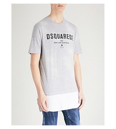 DSQUARED2 Logo-detail jersey T-shirt (Grey
