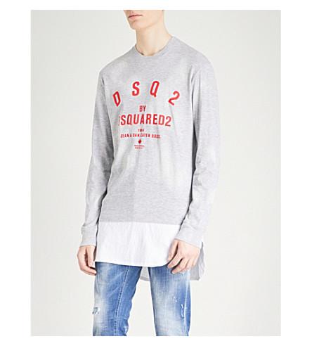 DSQUARED2 Logo-detail jersey sweatshirt (Grey