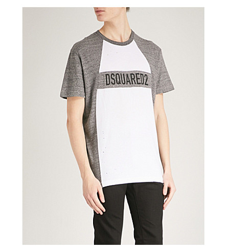 DSQUARED2 Logo-print cotton-jersey T-shirt (White