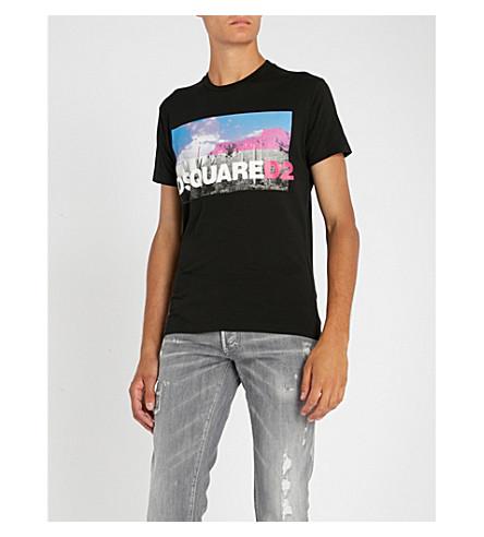 DSQUARED2 Graphic-print cotton T-shirt (Black