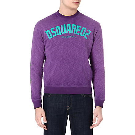 D SQUARED Jungle experience sweatshirt (Violet