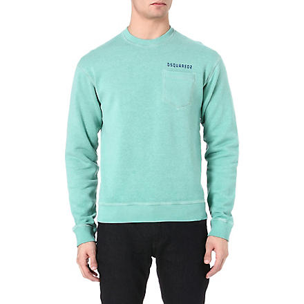 D SQUARED Pocket jersey sweatshirt (Green