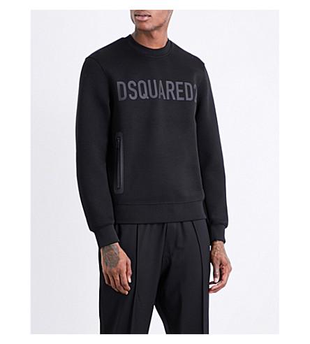 DSQUARED2 Zip-detail woven sweatshirt (Black