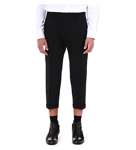 D SQUARED Turn-up slim-fit trousers (Black
