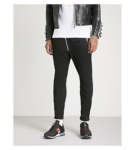 DSQUARED2 Stitch-detail slim-fit tapered jeans (Black