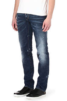 D SQUARED Slim-fit straight handkerchief jeans