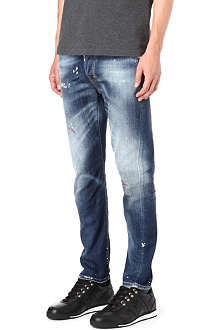 D SQUARED Kenny slim-fit painted jean