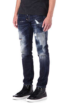 D SQUARED Cool guy rip and repair slim-fit tapered jeans