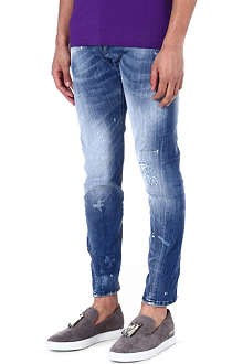 D SQUARED Bubble paint distressed jeans