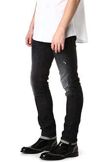 D SQUARED Slim-fit black wash jeans