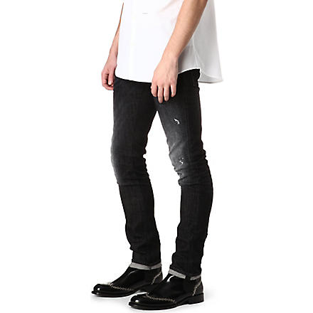 D SQUARED Slim-fit black wash jeans (Black