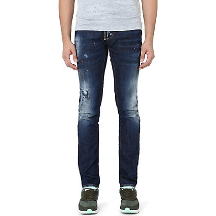 D SQUARED Workshop slim-fit straight jeans (Blue