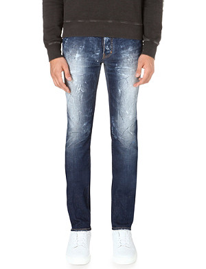 D SQUARED Stretch-denim razor cut jeans