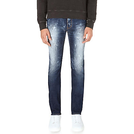 D SQUARED Stretch-denim razor cut jeans (Blue