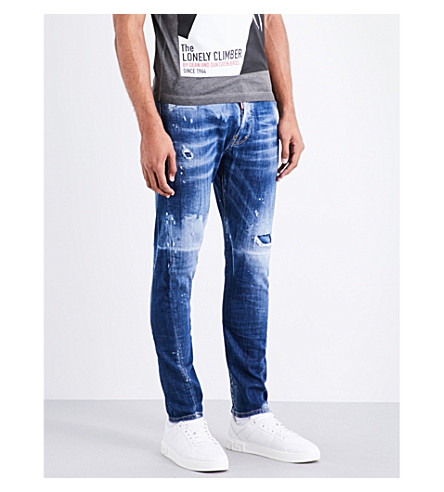 DSQUARED2 Kenny twist slim-fit skinny jeans (Blue