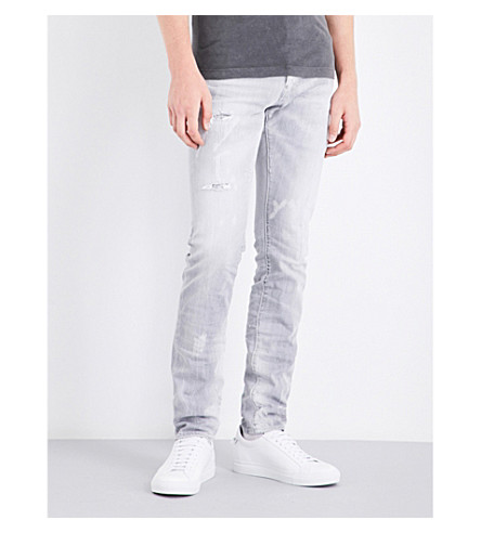 DSQUARED2 Cool Guy regular-fit tapered mid-rise jeans (Light+grey
