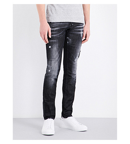 DSQUARED2 Clement regular-fit tapered mid-rise jeans (Black