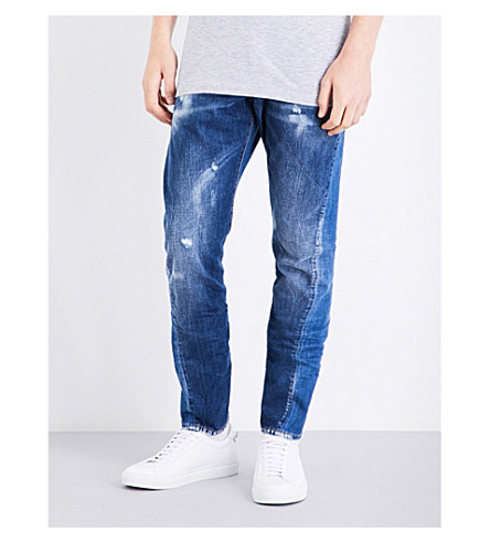 DSQUARED2 Sexy Twist regular-fit tapered mid-rise jeans (Blue