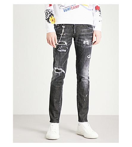DSQUARED2 Clement regular-fit skinny jeans (Black