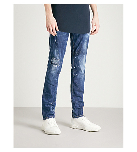 DSQUARED2 Spray-wash slim-fit skinny jeans (Blue