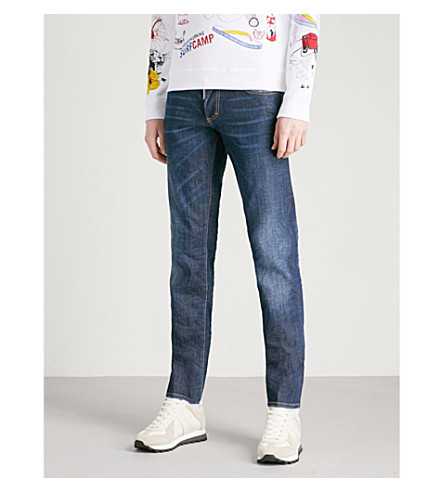 DSQUARED2 Faded-wash slim-fit tapered jeans (Blue