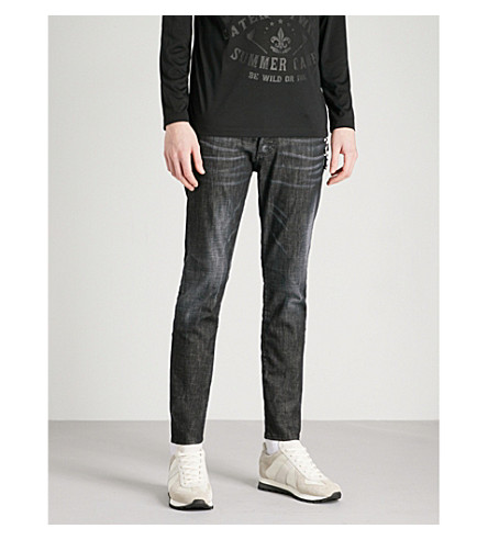 DSQUARED2 Faded-wash slim-fit skinny jeans (Black
