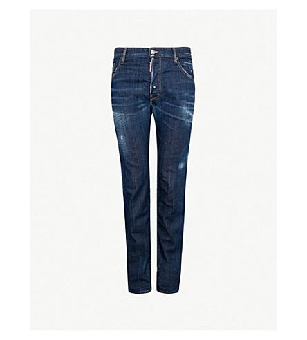DSQUARED2 Distressed slim-fit denim jeans (Blue