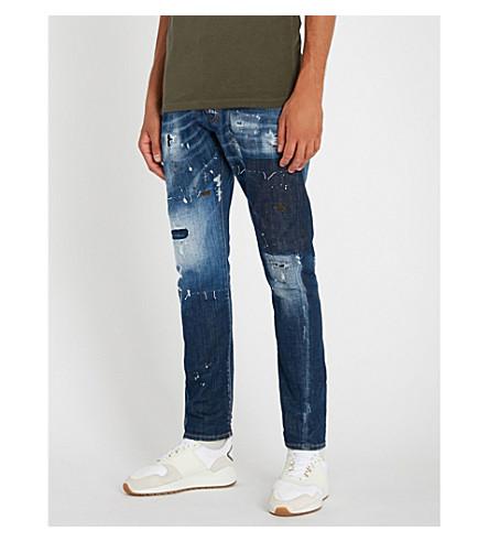 DSQUARED2 Distressed slim-fit twist denim jeans (Blue