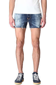D SQUARED Anchor denim shorts
