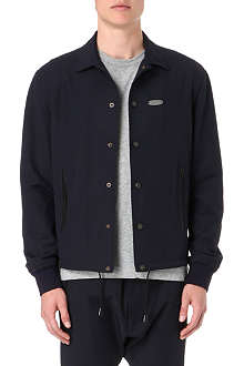 D SQUARED Leather-trimmed Harrington jacket