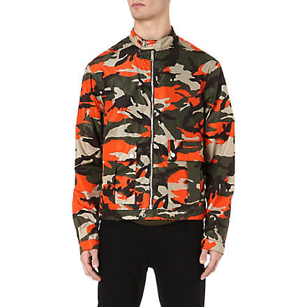 D SQUARED Camouflage bomber jacket (Orange