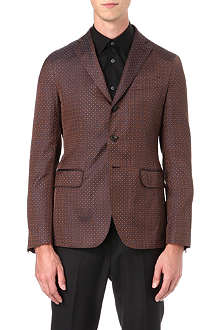 D SQUARED Paisley single-breasted silk blazer