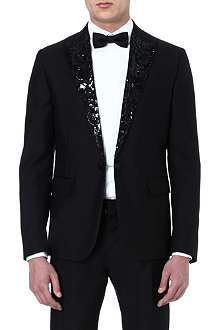 D SQUARED Beverly embellished-lapel tuxedo jacket