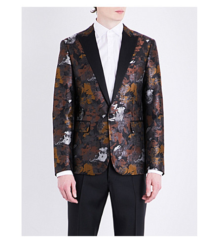 DSQUARED2 Abstract jacquard-print regular-fit jacket (Black