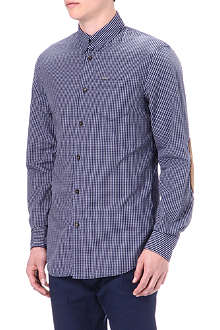 D SQUARED Checked elbow-patch shirt