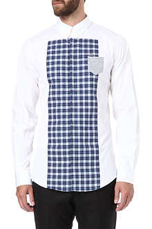 D SQUARED Check bib slim-fit shirt